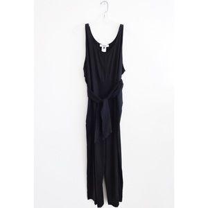 Shaina Mote Black Sleeveless Tie Jumpsuit sz 8 NWT